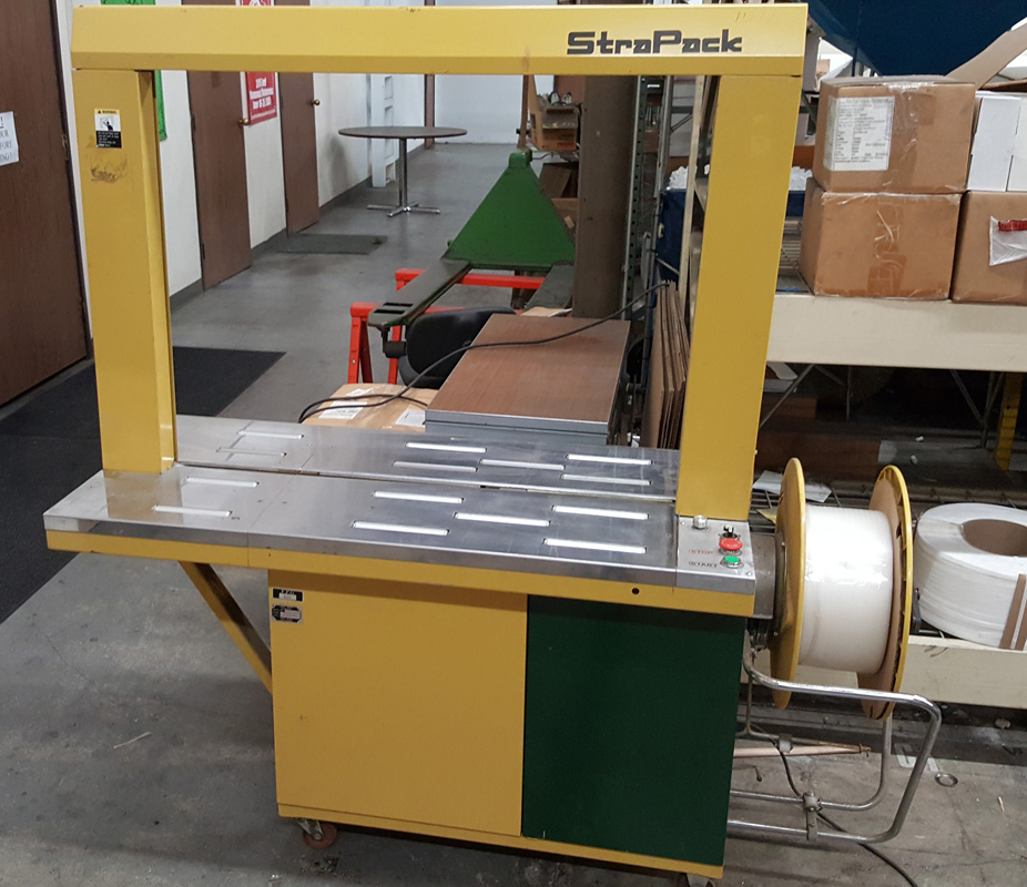 used strapping machine strapack rq 8 automatic strapping machine